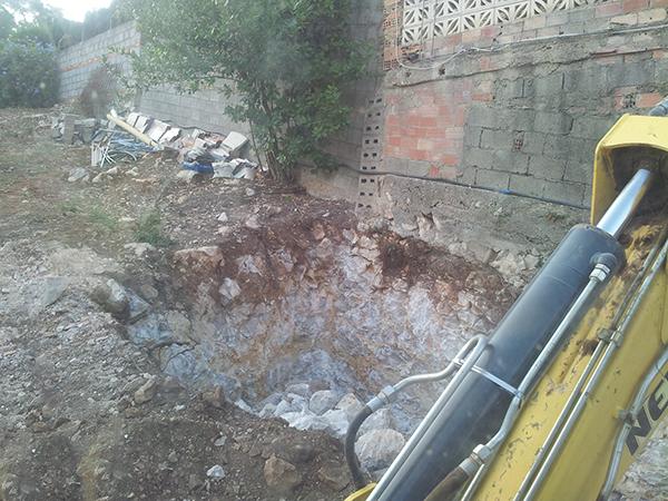 Excavación de fosas sépticas
