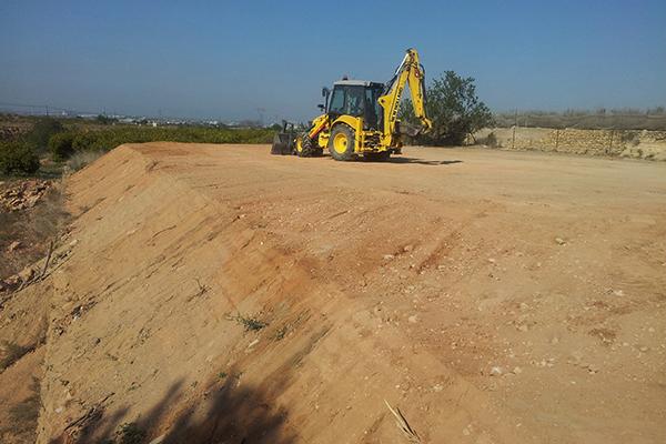Relleno de terrenos y terraplenes