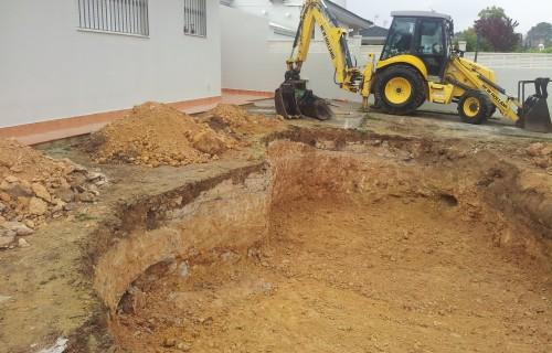 Excavacion para piscinas