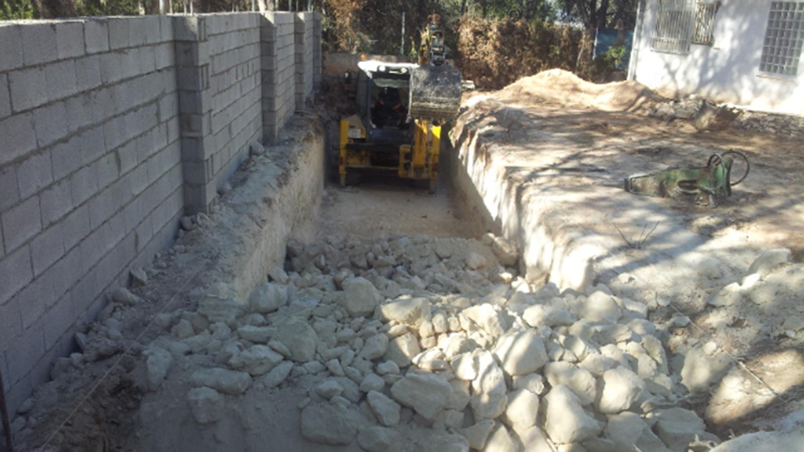 Excavaciones para piscinas